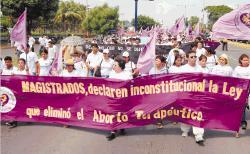 marcha a favor del aborto en Nicaragua