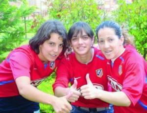 Jugadoras del equipo feminino del club Atlético de Madrid