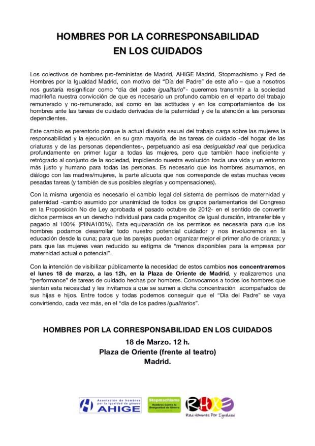 Texto Padre Igualitario 2013